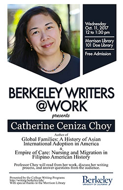 Poster for Berkeley Writers at Work featuring Catherine Ceniza Choy