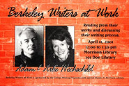 Poster for Berkeley Writers at Work featuring Arlie and Adam Hochschild