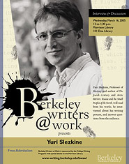 Poster for Berkeley Writers at Work featuring Yuri Slezkine