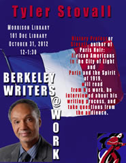 Poster for Berkeley Writers at Work featuring Tyler Stovall