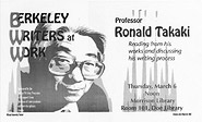 Poster for Berkeley Writers at Work featuring Ronald Takaki
