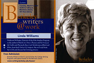 Poster for Berkeley Writers at Work featuring Linda Williams