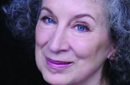 Close-up of Margaret Atwood