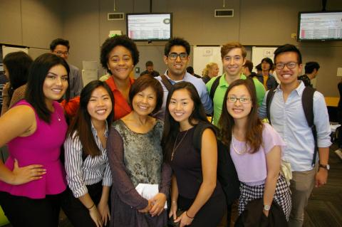 Sim Chiang and CW R4B students at the research festival