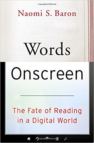 Cover of Naomi S. Baron's book Words Onscreen